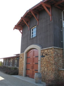 Barrel room at Terra d'Oro Winery