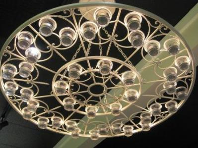 Chandelier at Catrina Maria Designs studio