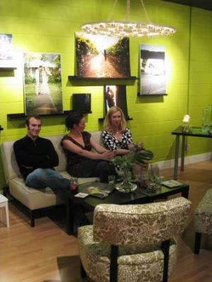 Lounge space at Catrina Maria Designs studio