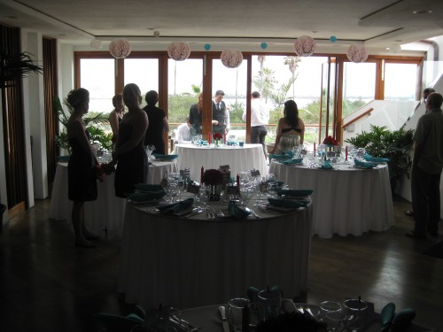 Reception site at San Diego wedding