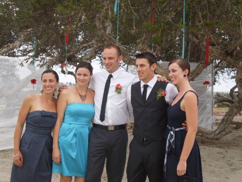 Groom's siblings at San Diego wedding
