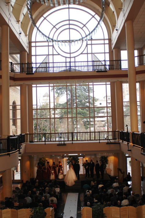 Wedding at the Library Galleria in Sacramento