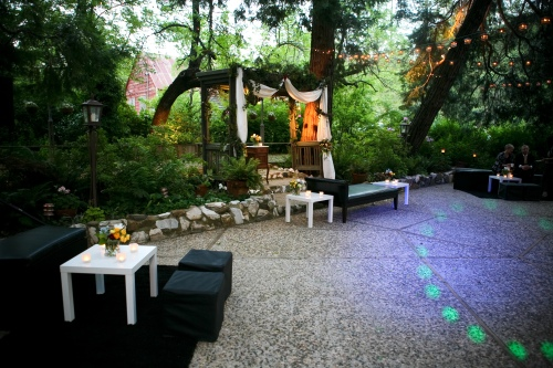 The ceremony site turned into a lounge area
