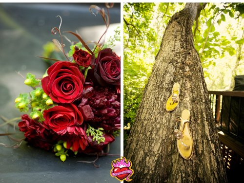Bouquet and Tree with Shoes!