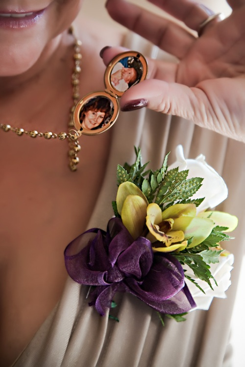 Mother of the Bride with locket
