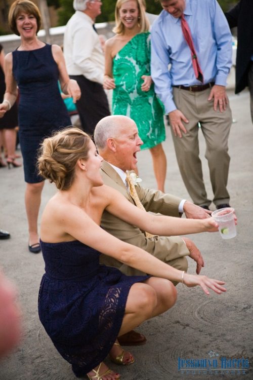 Father and Sister of the Bride breakin' it down