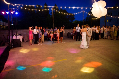 Bride and Groom share their first dance