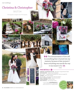 As seen in Real Weddings Magazine, www.realweddingsmag.com